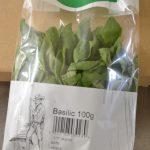 conditionnement herbes aromatiques sachet de 100 grammes